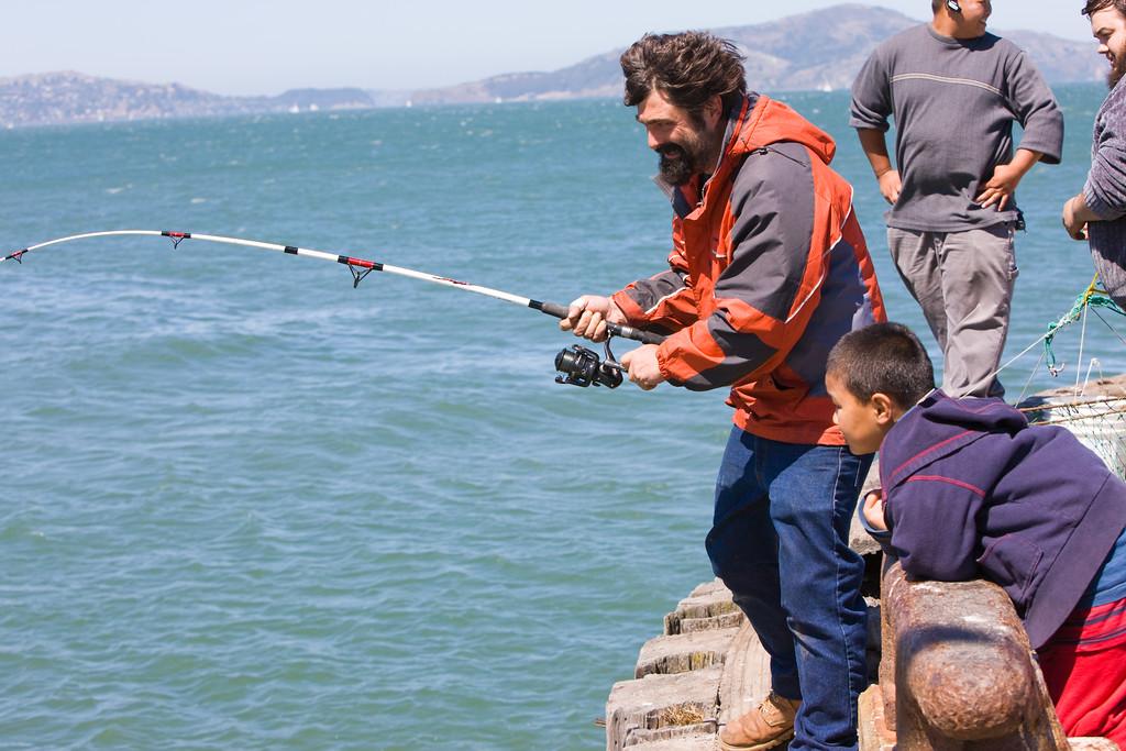 Morgan reeling in a big catch