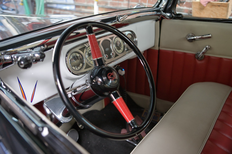 Restored Ford truck cockpit