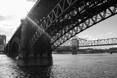 Eads Bridge and the Gateway Arch
