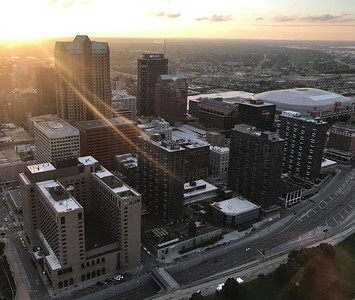 Sunset view from the top of the Gateway Arch
