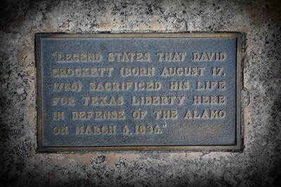 Memorial Sign at The Alamo