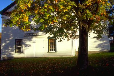 Fall Foliage at Peacham Town Hall