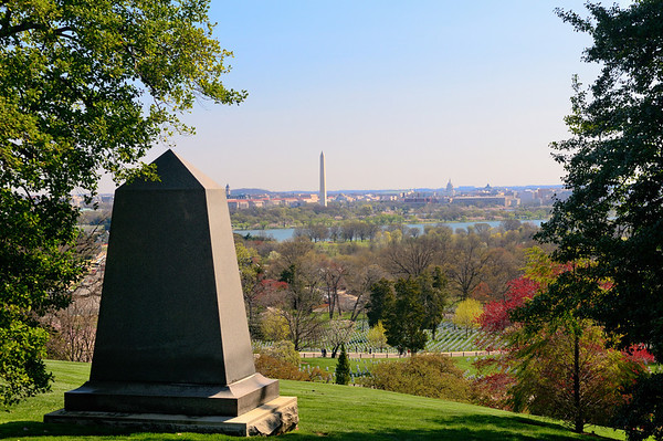 View of Washington DC from Arlington House - Arlington National Cemetery