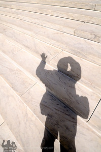 My Shadow on the Steps of The United States Supreme Court