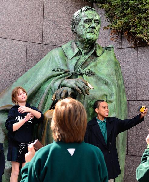 Kids at the FDR Memorial