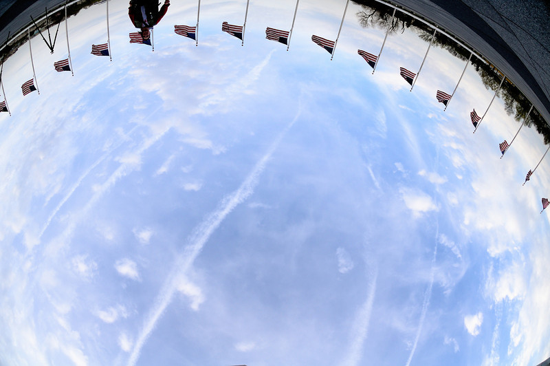 Shooting straight up with the fisheye at the Washington Monument
