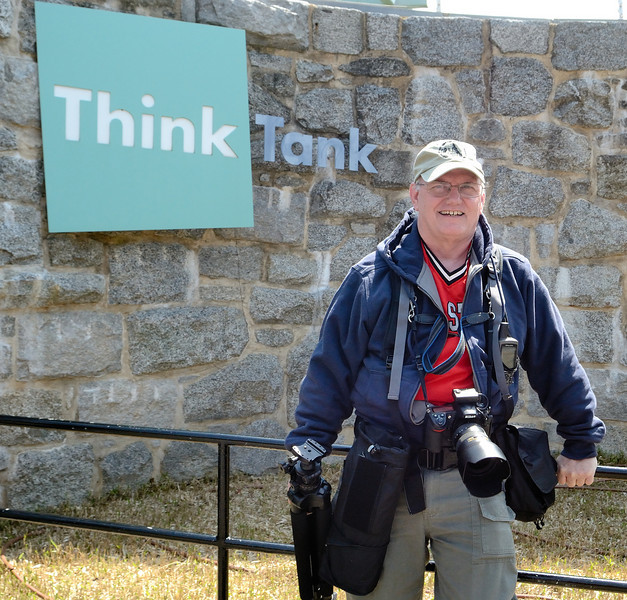 Me at the Think Tank Animal Exhibit wearing my Think Tank Photo gear - Photo by Dona