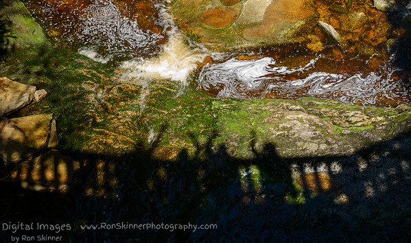 Shadows on the Bridge over Elakala Falls