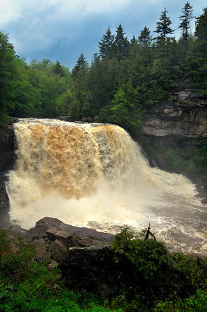 Blackwater Falls after a storm