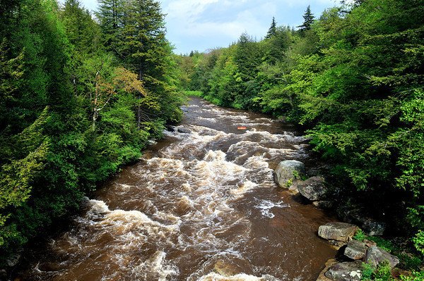 Blackwater River - it gets its name from the dark color caused by tannic acid in the water