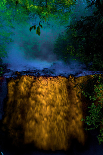 Blackwater Falls seen through a Nik filter
