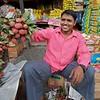 Fruit vendor selling Lychee, Delhi.
