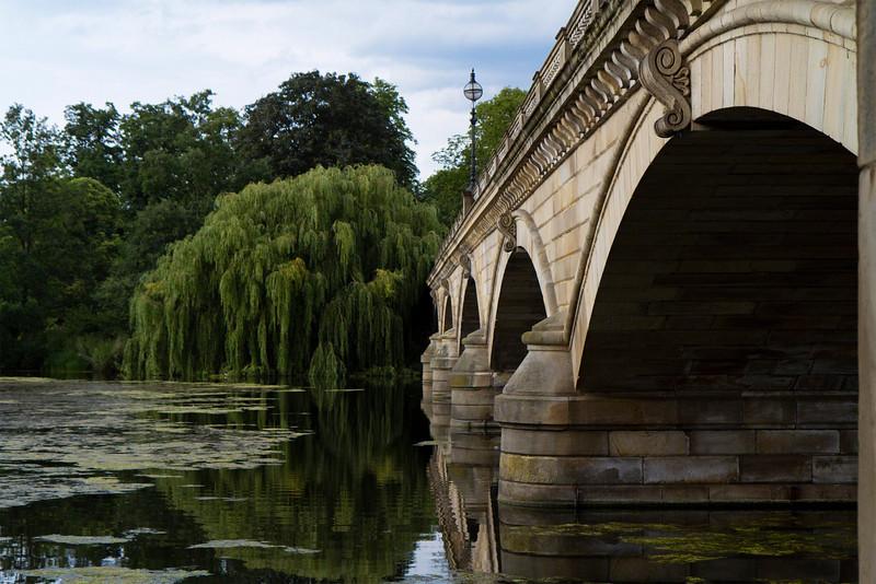Serpentine Bridge in Hyde Park, London, England