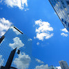 Skyline and clouds in Rotterdam, Holland.