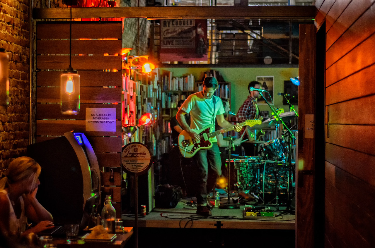 Guitarist with the band Papa: Fingerprints Records, Long Beach, California