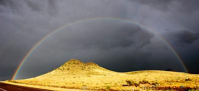 Rainbow over Cemetary