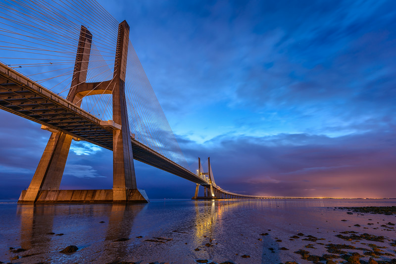 Vasco da Gama bridge at the blue hour