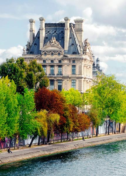 Autumn trees along the Seine