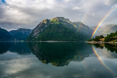 Double rainbow in #norway