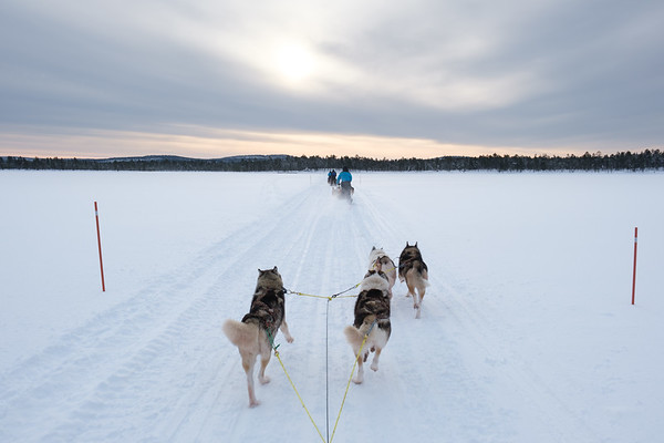 Crossing Lake Inari