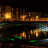 Rory O' More Bridge at Night, River Liffey, Dublin, Ireland