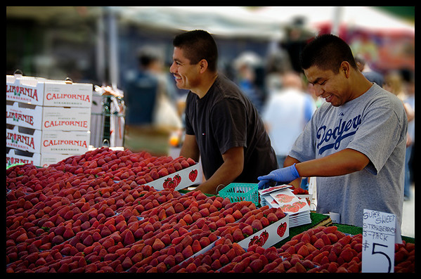 California Strawberries, Farmer's Market, Long Beach, CA