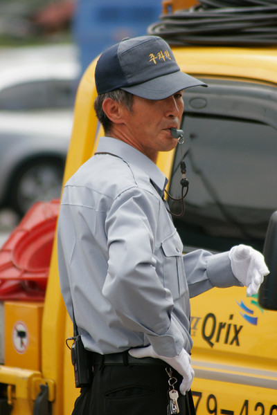 Traffic cop -Seoul, Korea