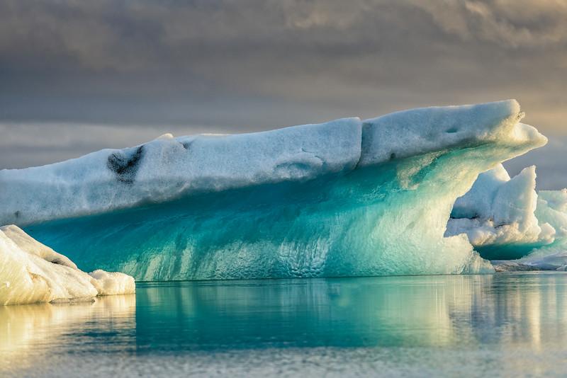 Blue ice at Jokulsarlon