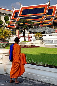 """A MONK PAUSES""Bangkok, ThailandA monk pauses at Grand Palace, Bangkok.© Chris Moore - Exploring Light PhotographyPURCHASE A PRINT"