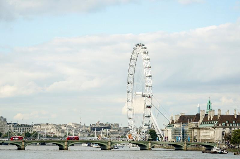 London Eye and bridge!