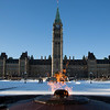 Centennial Flame in front of The House of Parliament Ottawa