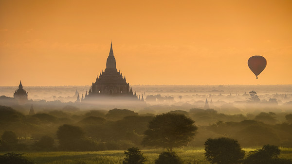 Bagan at dawn