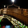 Ha'Penny Bridge on a cold winter night
