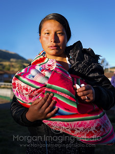 A Young Peruvian Mother with Medicine