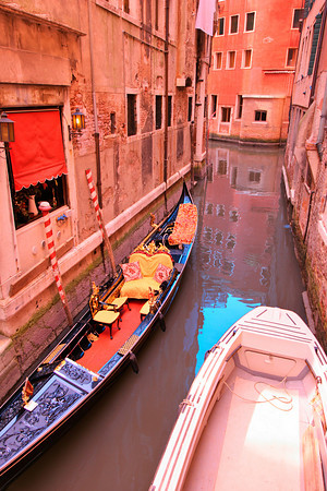 Canal scene from Venice, Italy