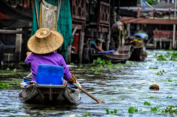 Floating Market: near Bangkok, Thailand