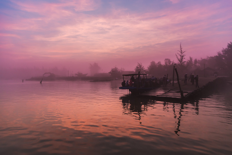 Sunrise in the Fog - Hoi An Vietnam