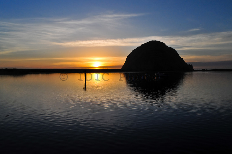 Morro Rock Sunset California
