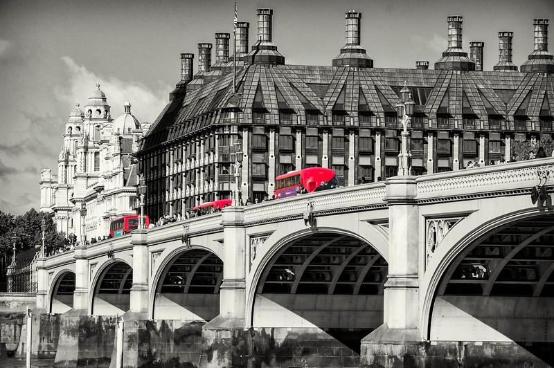 Westminster Bridge and buses!