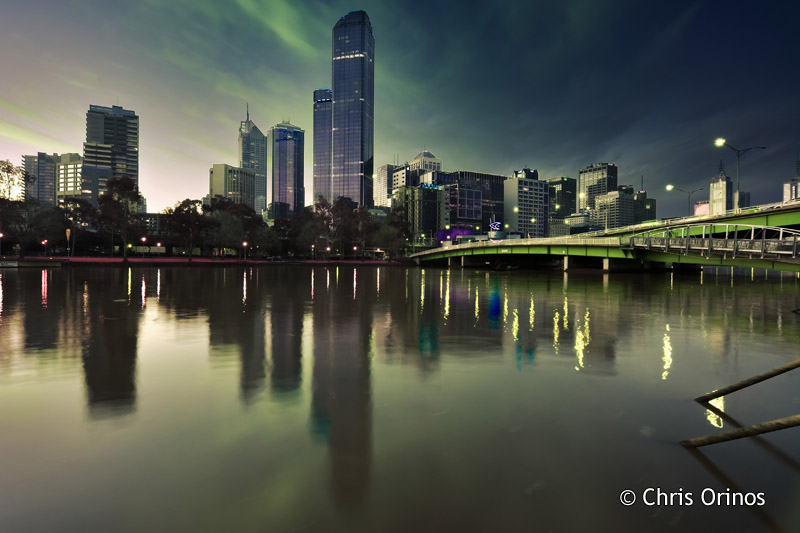 Melbourne   Australia Reflections of the cityscape on the Yarra river
