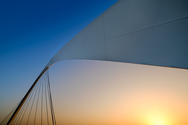 Minimalistic look at Dubai canal footbridge