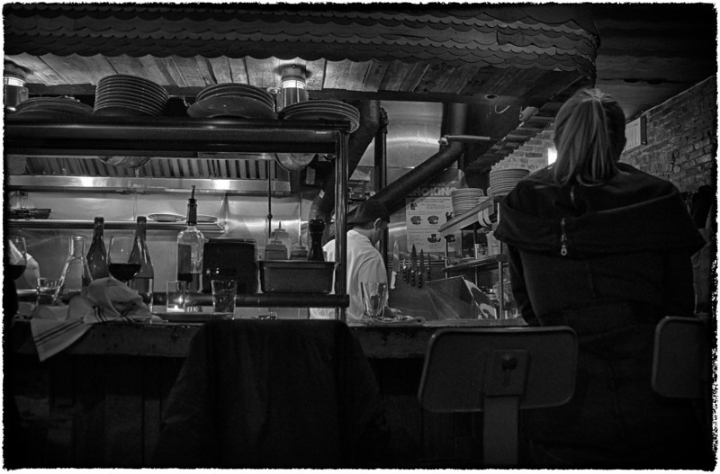 Saint Anselm's Restaurant: Brooklyn, New York (B&W version, January, 2013)