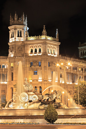 Plaza De Cibeles, Madrid, Spain at night
