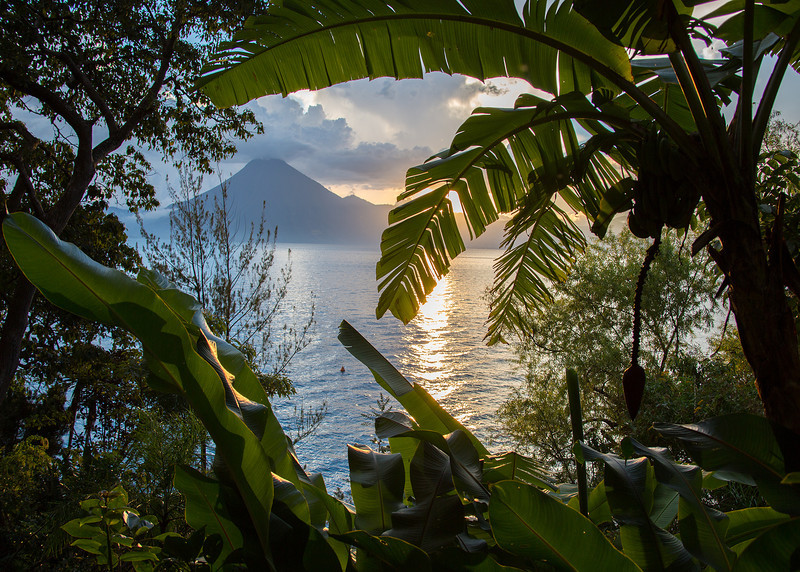 Sunset over Lake Atitlan