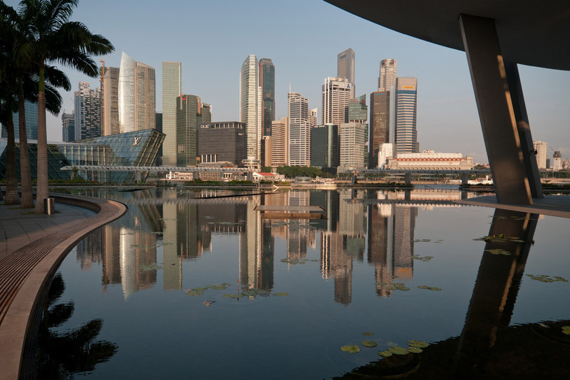 Singapore Morning cityscape view