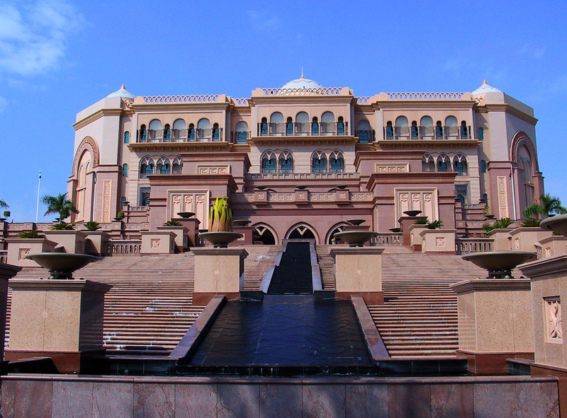 The Emirates Palace in Abu Dhabi, UAE