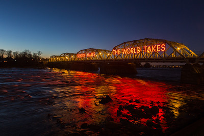 Trenton Makes Bridge at Sunset