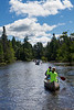 Canoeing on the AuSable River, Grayling Michigan