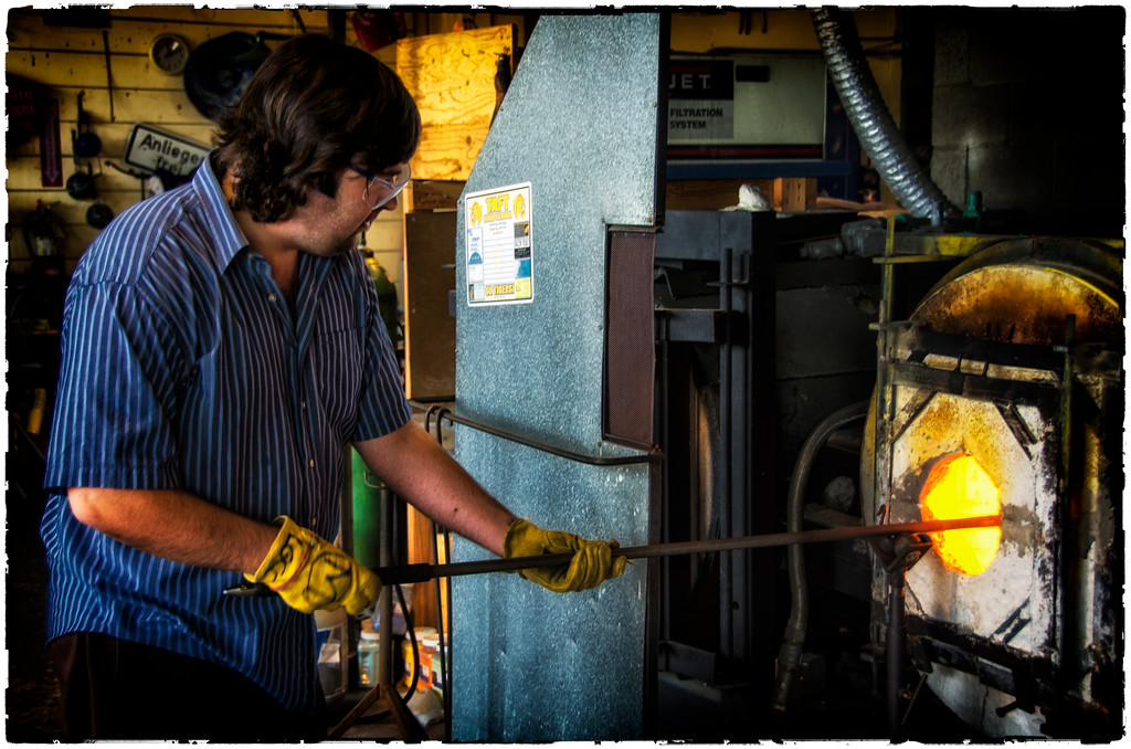 Glass Blowing: Lincoln City, Oregon