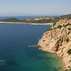 Rugged coastline on the small island of Thassos, Greece